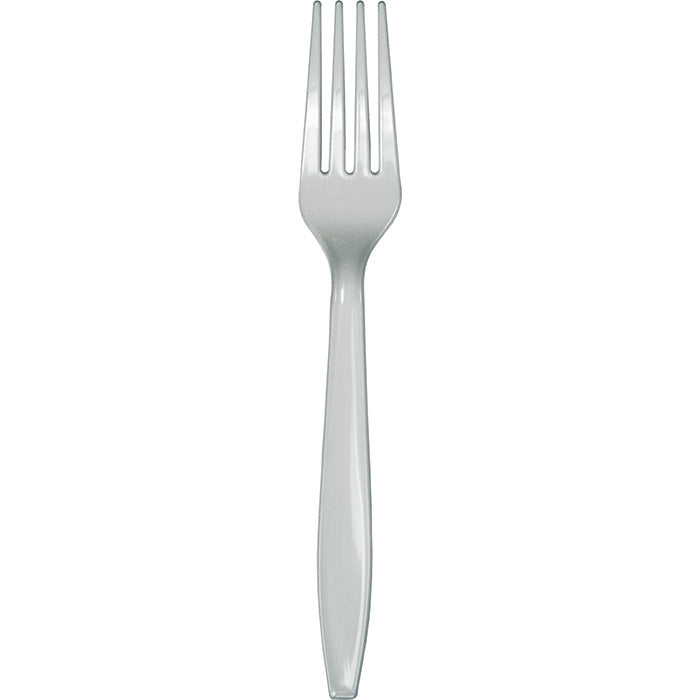 Shimmering Silver Plastic Forks, 50 ct by Creative Converting