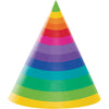 Rainbow Adult Party Hats, 8 ct by Creative Converting