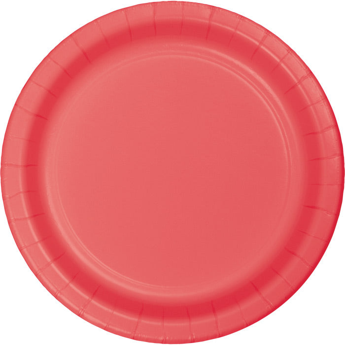 Coral Paper Plates, 24 ct by Creative Converting