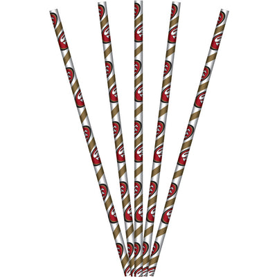 San Francisco 49Ers Paper Straws, 24 ct by Creative Converting