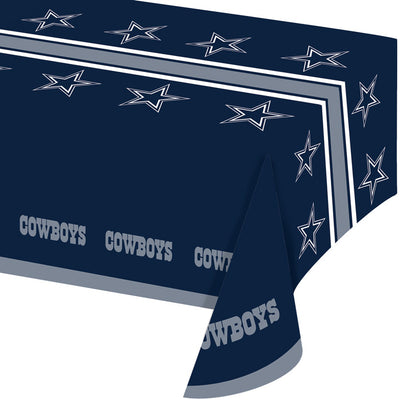 "Dallas Cowboys Plastic Tablecloth, 54"" X 108"" by Creative Converting"
