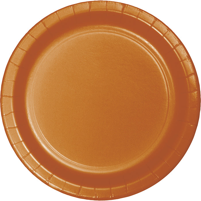 Pumpkin Spice Orange Paper Plates, 24 ct by Creative Converting