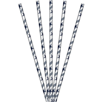 Dallas Cowboys Paper Straws, 24 ct by Creative Converting
