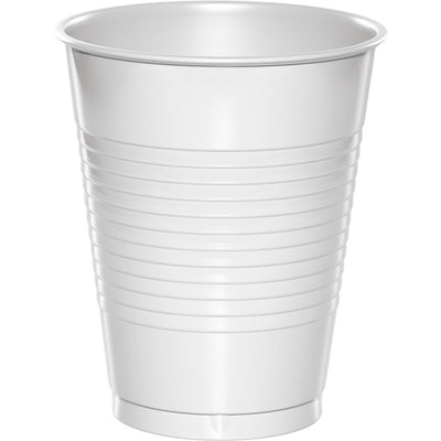 White Premium Plastic Cups 16 Oz., 20 ct by Creative Converting