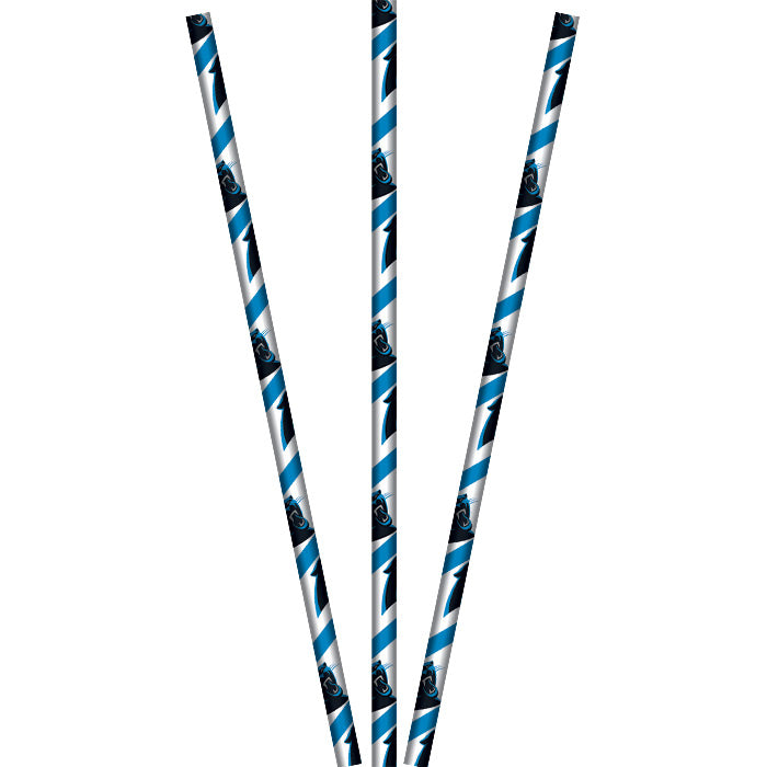 Carolina Panther Paper Straws, 24 ct by Creative Converting