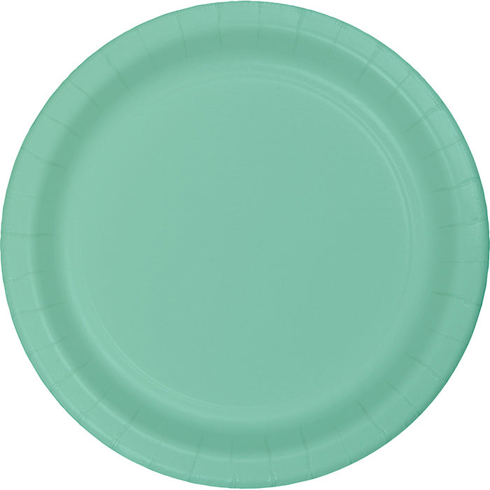 Fresh Mint Green Paper Plates, 8 ct by Creative Converting