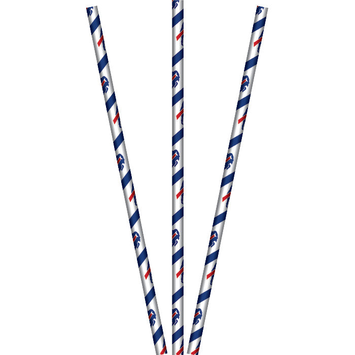 Buffalo Bills Paper Straws, 24 ct by Creative Converting