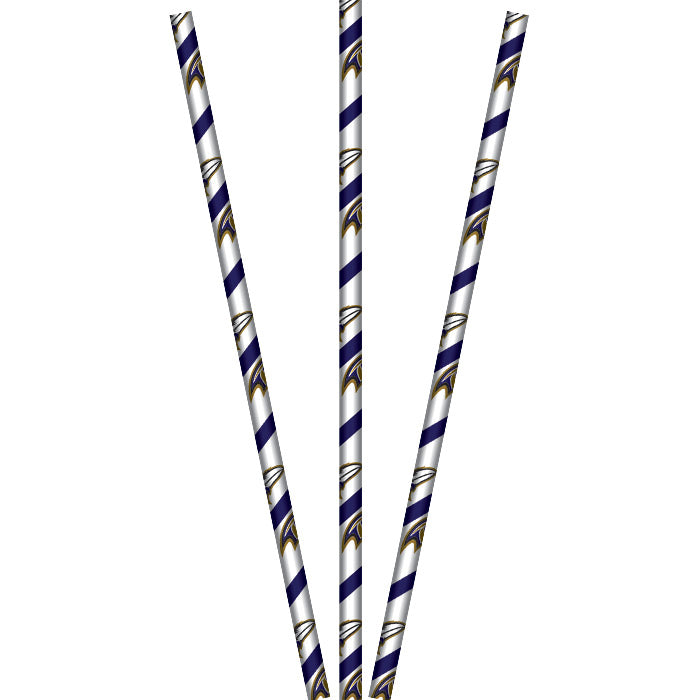 Baltimore Ravens Paper Straws, 24 ct by Creative Converting