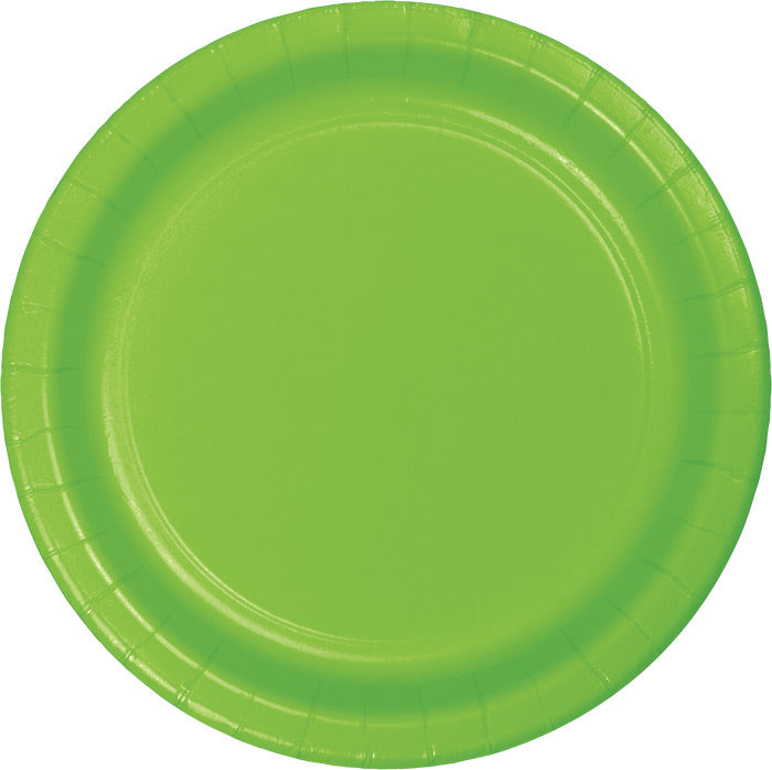 Fresh Lime Green Paper Plates, 24 ct by Creative Converting