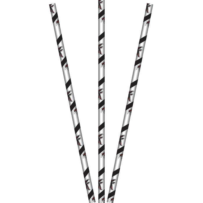 Atlanta Falcons Paper Straws, 24 ct by Creative Converting