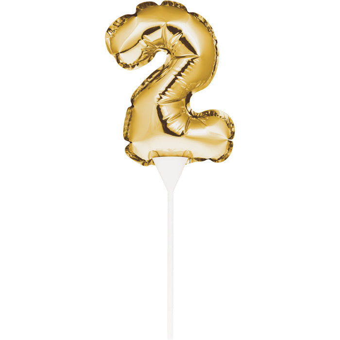 2 Gold Number Balloon Cake Topper by Creative Converting