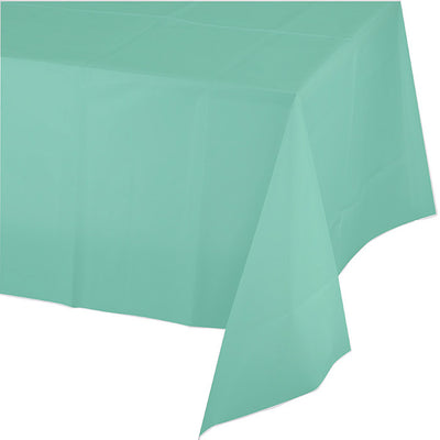 "Fresh Mint Plastic Tablecover 54"" X 108"" by Creative Converting"