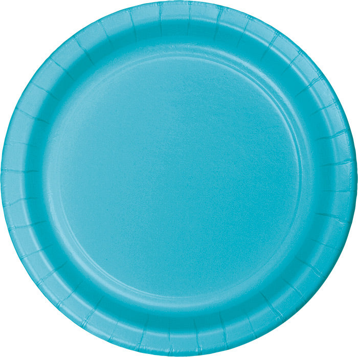 Bermuda Blue Paper Plates, 24 ct by Creative Converting