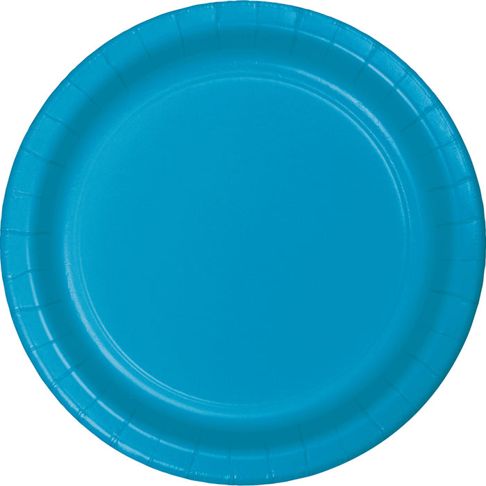 Turquoise Blue Paper Plates, 24 ct by Creative Converting