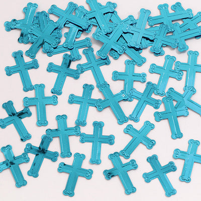 Embossed Blue Cross Confetti, 0.5 oz by Creative Converting