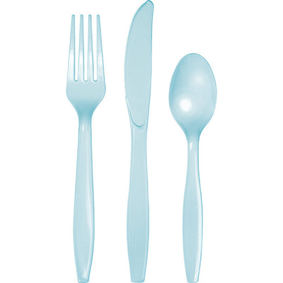 Pastel Blue Assorted Plastic Cutlery, 24 ct by Creative Converting