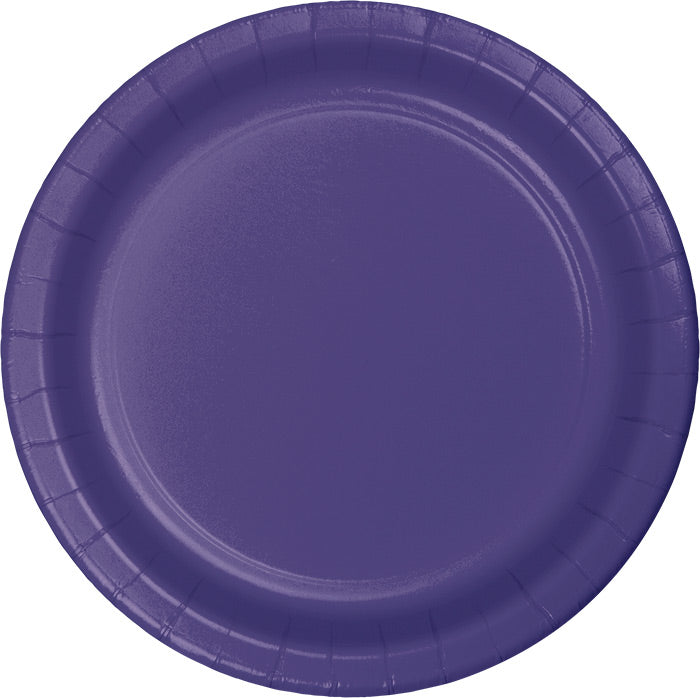 Purple Paper Plates, 24 ct by Creative Converting