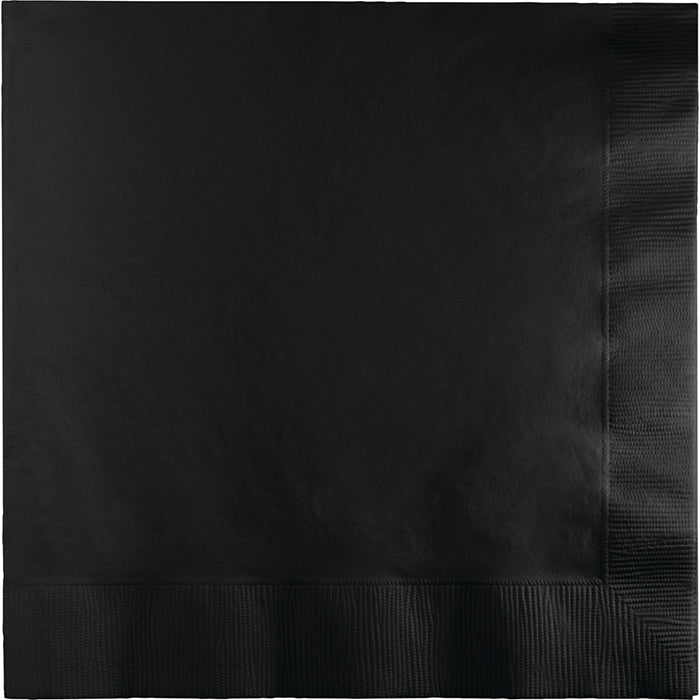 Black Velvet Dinner Napkins 3Ply 1/4Fld, 25 ct by Creative Converting