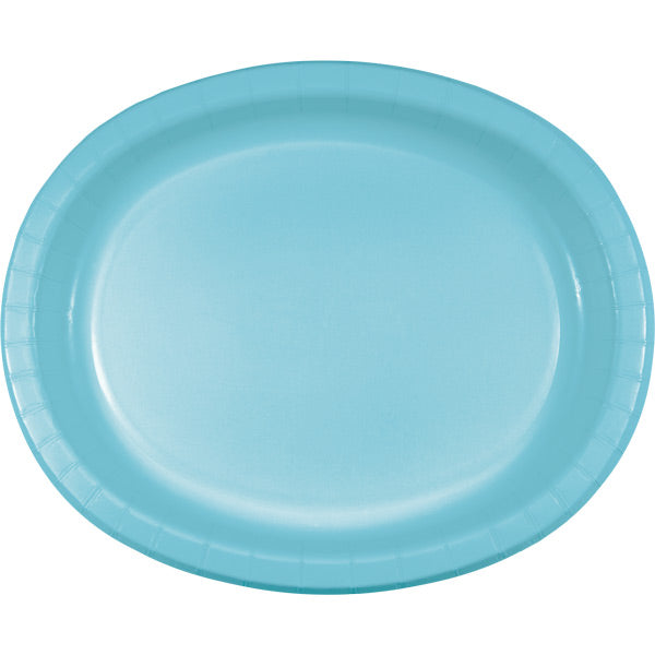 "Pastel Blue Oval Platter 10"" X 12"", 8 ct by Creative Converting"