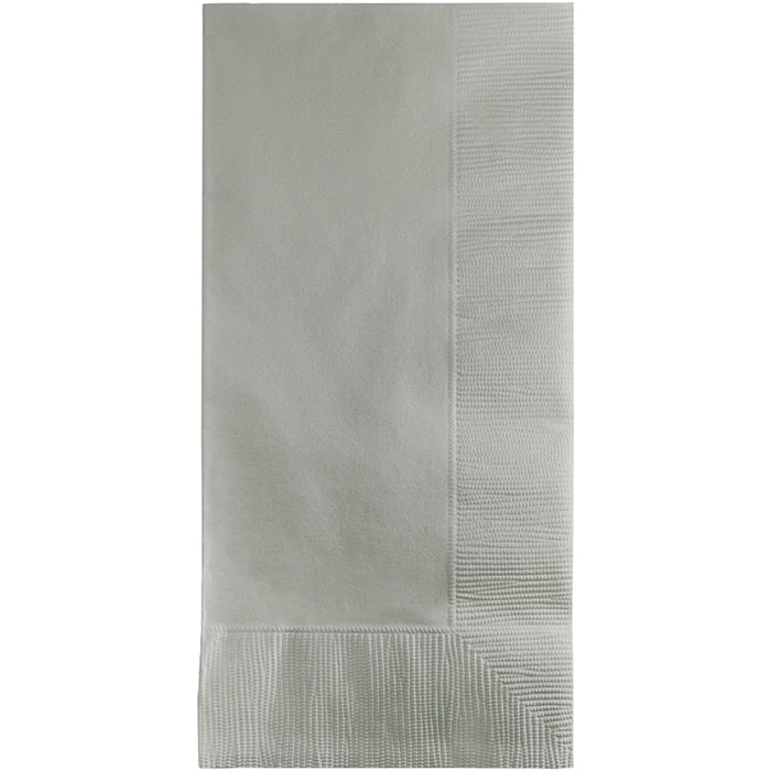 Shimmering Silver Dinner Napkins 2Ply 1/8Fld, 100 ct by Creative Converting