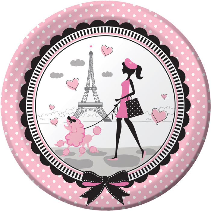 Party In Paris Paper Plates, 8 ct by Creative Converting