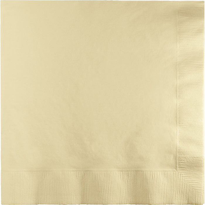 Ivory Dinner Napkins 3Ply 1/4Fld, 25 ct by Creative Converting