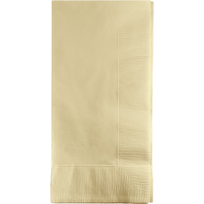 Ivory Dinner Napkins 2Ply 1/8Fld, 50 ct by Creative Converting