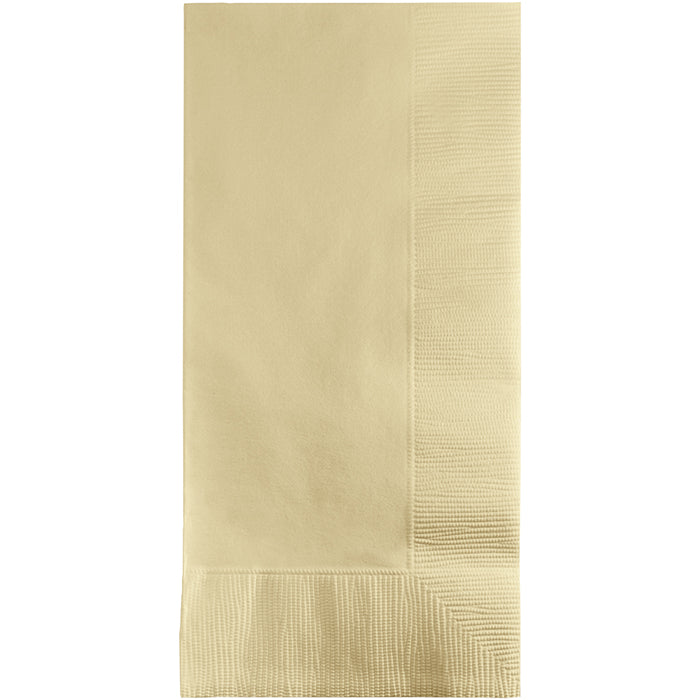 Ivory Dinner Napkins 2Ply 1/8Fld, 100 ct by Creative Converting