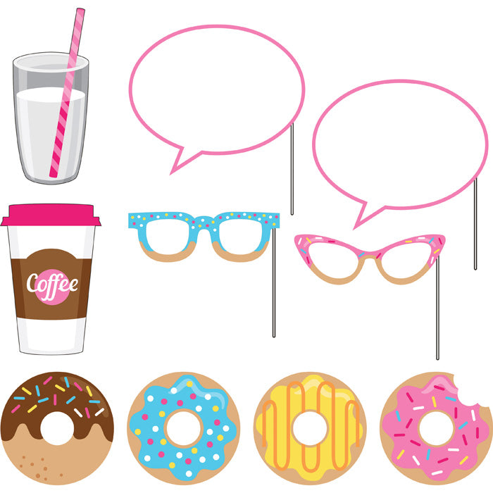 Donut Time Photo Booth Props, 10 ct by Creative Converting