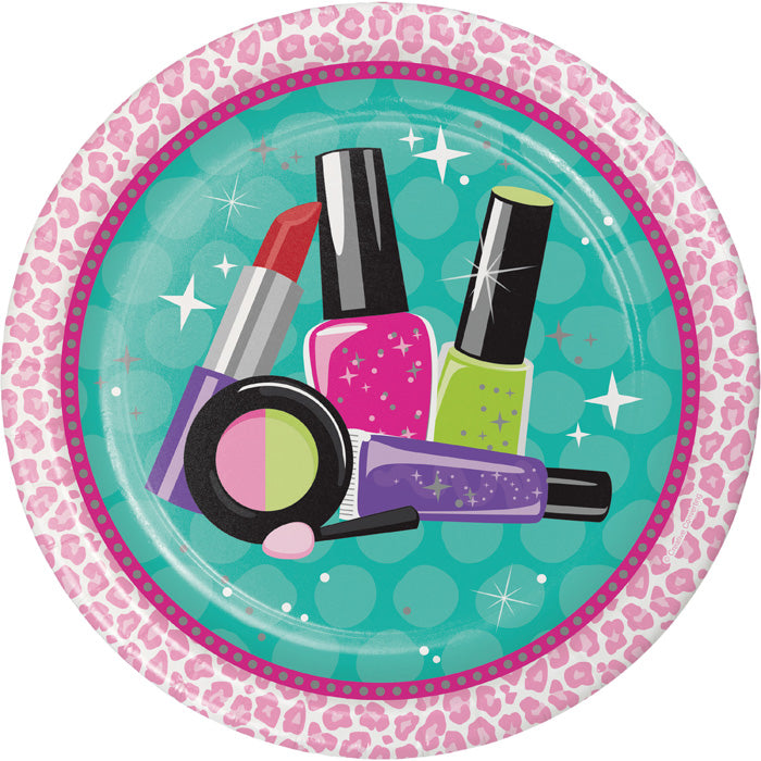 Sparkle Spa Party Icon Paper Plates, 8 ct by Creative Converting