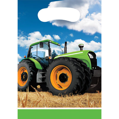 Tractor Time Favor Bags, 8 ct by Creative Converting