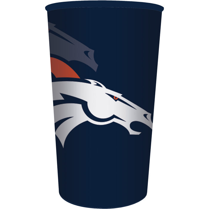 Denver Broncos Plastic Cup, 22 Oz by Creative Converting