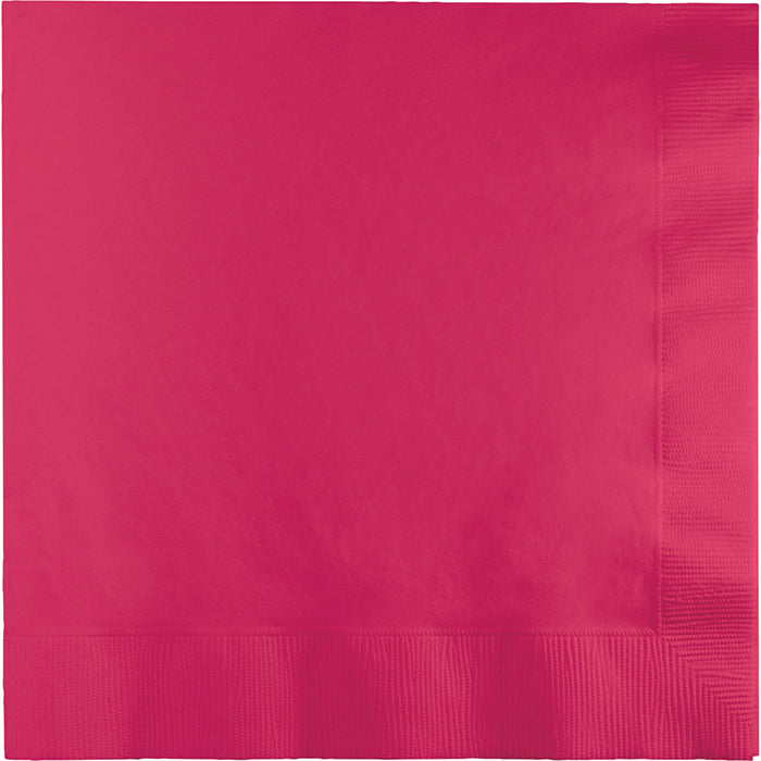 Hot Magenta Dinner Napkins 3Ply 1/4Fld, 25 ct by Creative Converting