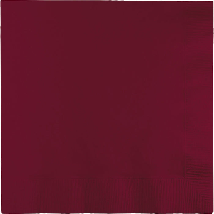 Burgundy Dinner Napkins 3Ply 1/4Fld, 25 ct by Creative Converting
