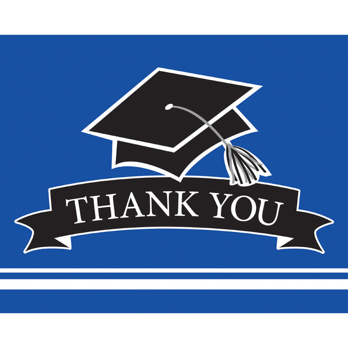 Graduation School Spirit Blue Thank You Notes, 25 ct by Creative Converting