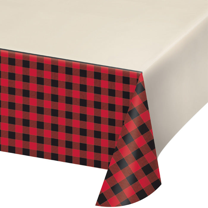 "Buffalo Plaid Plastic Tablecover All Over Print, 54"" X 102"" by Creative Converting"