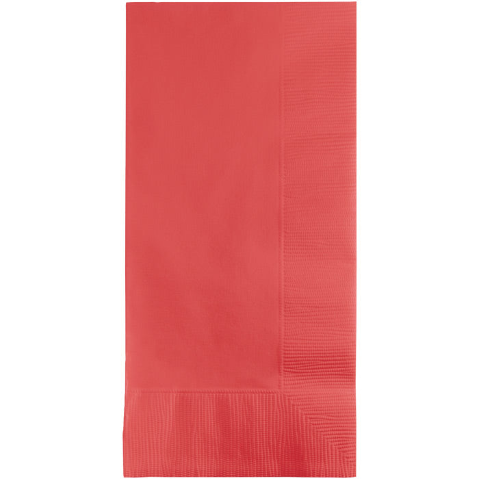 Coral Dinner Napkins 2Ply 1/8Fld, 50 ct by Creative Converting