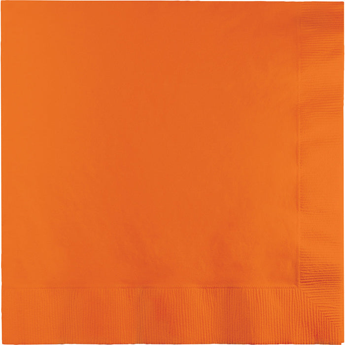 Sunkissed Orange Dinner Napkins 3Ply 1/4Fld, 25 ct by Creative Converting