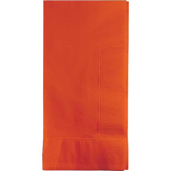 Sunkissed Orange Dinner Napkins 2Ply 1/8Fld, 50 ct by Creative Converting