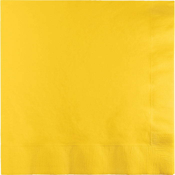 School Bus Yellow Dinner Napkins 3Ply 1/4Fld, 25 ct by Creative Converting