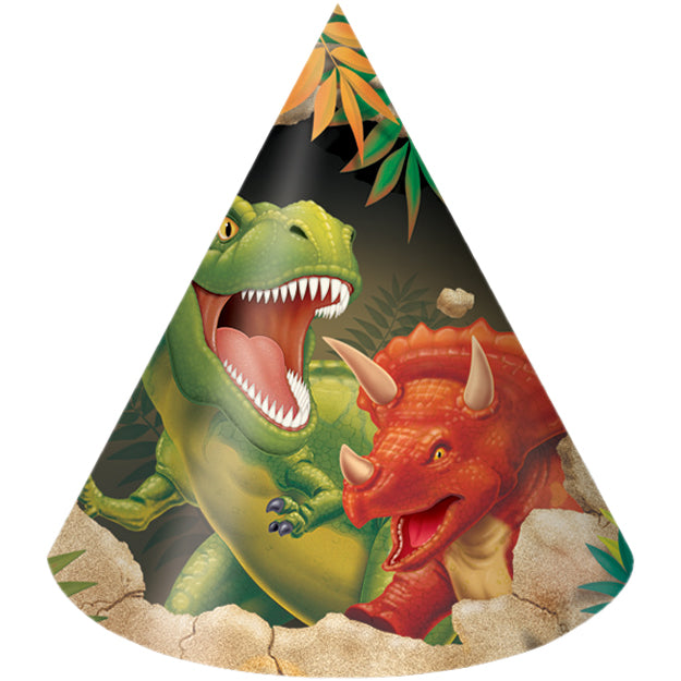 Dinosaur Party Hats, 8 ct by Creative Converting