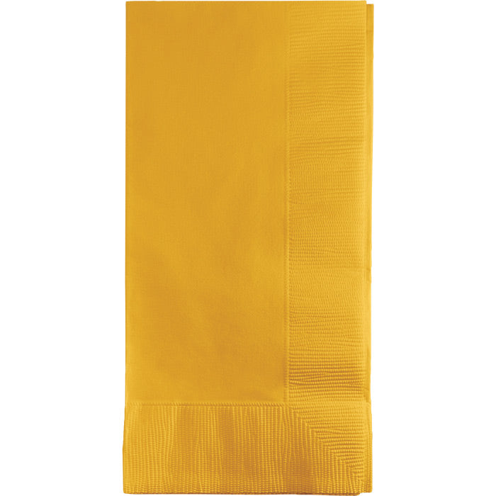 School Bus Yellow Dinner Napkins 2Ply 1/8Fld, 50 ct by Creative Converting