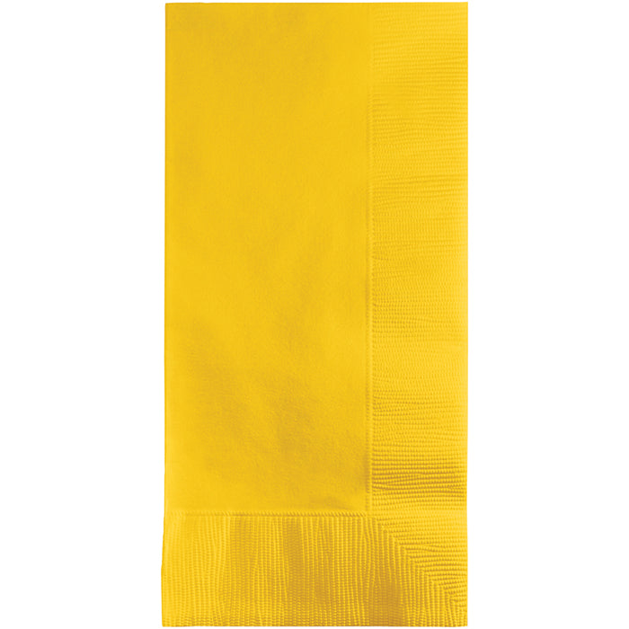 School Bus Yellow Dinner Napkins 2Ply 1/8Fld, 100 ct by Creative Converting