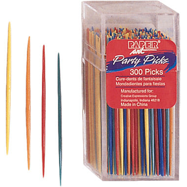 Assorted Color Plastic Picks, 300 ct by Creative Converting