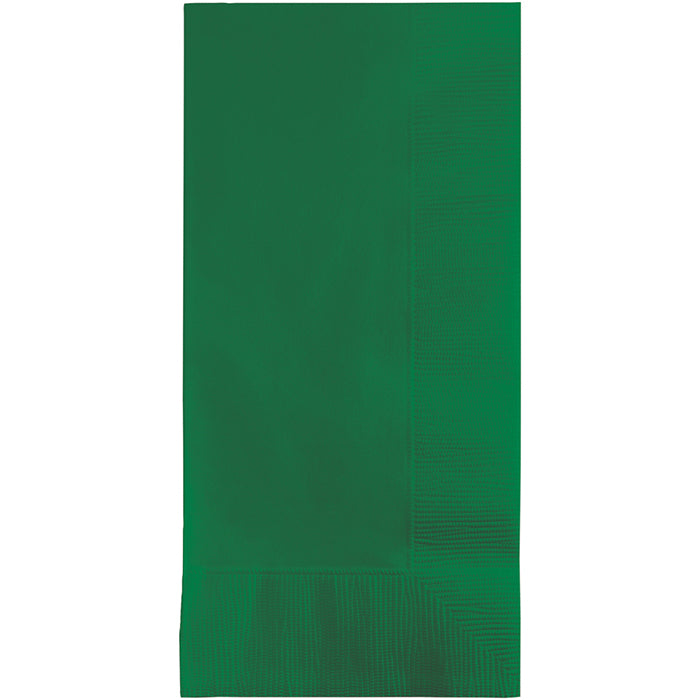 Emerald Green Dinner Napkins 2Ply 1/8Fld, 100 ct by Creative Converting