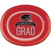 "Graduation School Spirit Red Oval Platters, 10"" X 12"", 8 ct by Creative Converting"