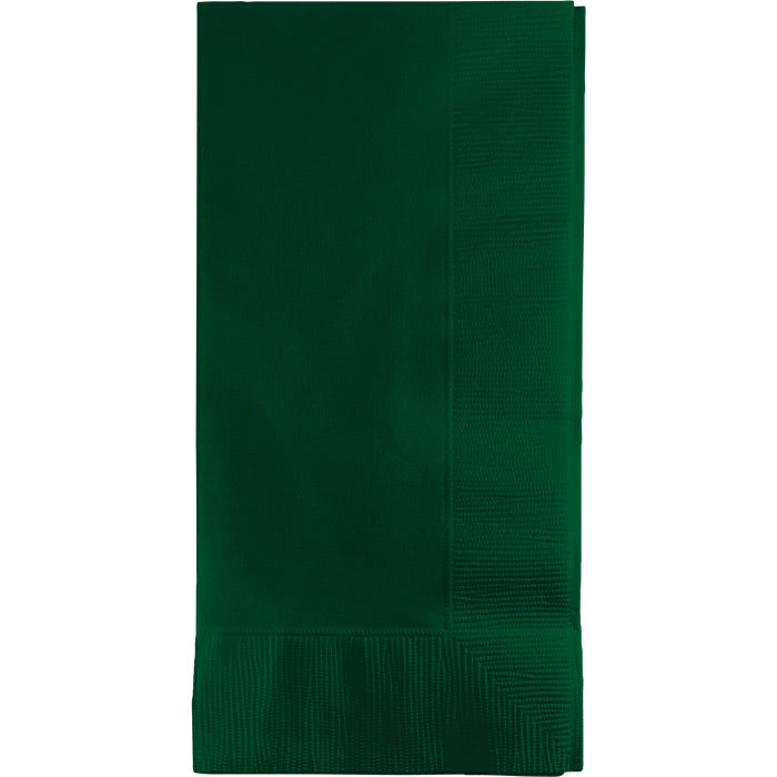 Hunter Green Dinner Napkins 2Ply 1/8Fld, 50 ct by Creative Converting