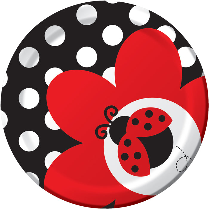 Ladybug Fancy Dessert Plates, 8 ct by Creative Converting