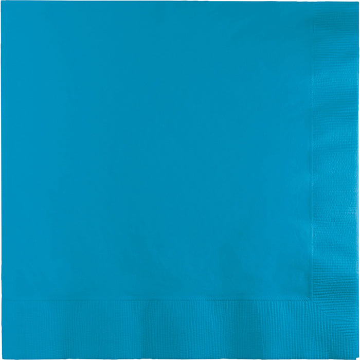 Turquoise Dinner Napkins 3Ply 1/4Fld, 25 ct by Creative Converting