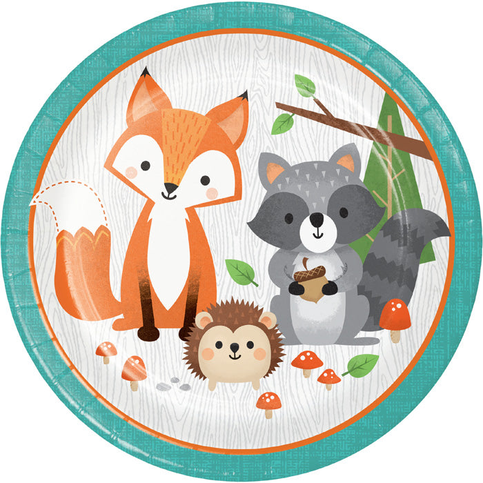 Wild One Woodland Paper Plates, Pack Of 8 by Creative Converting